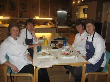 Vårt duktiga team: Harriet, Carola, Susse och Stina