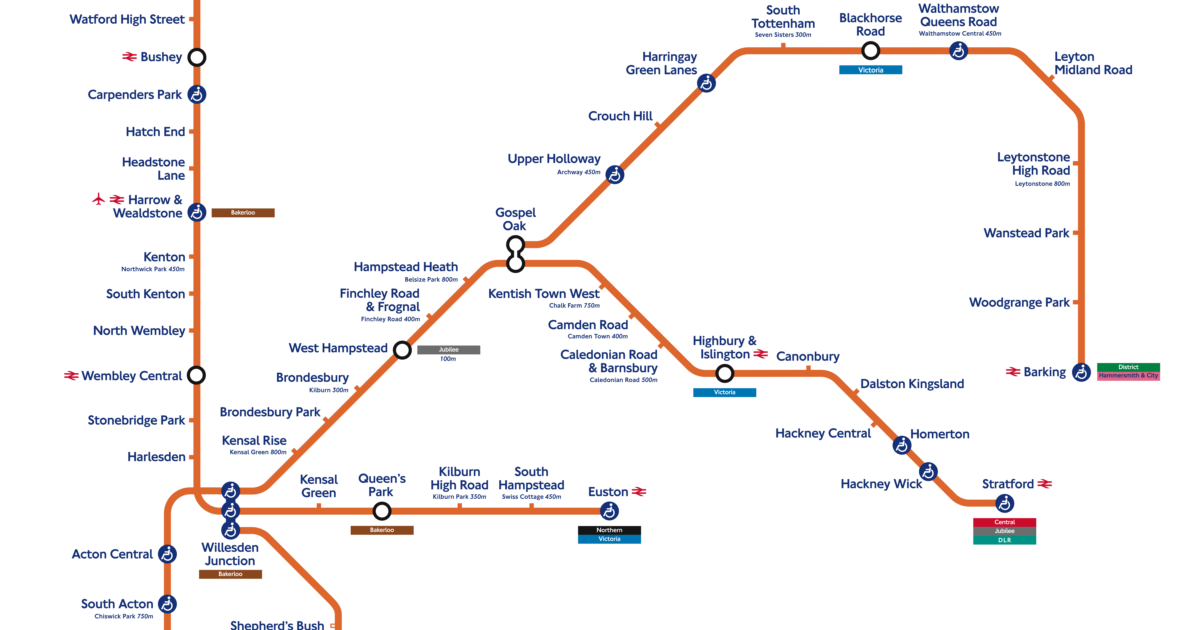 London Connections That London Overground interchange map