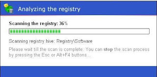 AusLogics Registry Defrag : Scanning the Registry