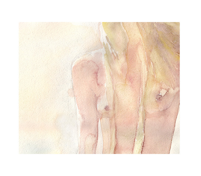 NEW watercolor fragment from Summertime serie
