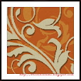 Floral #4: Orange Morning (Free Cross Stitch Pattern)