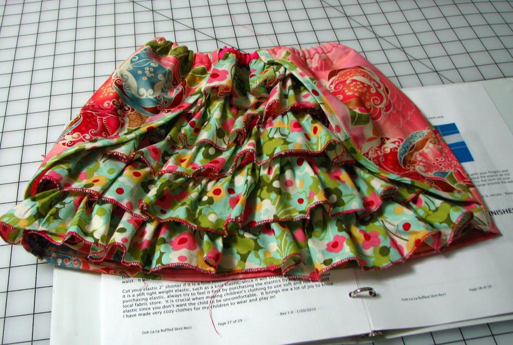 Sanourra Designs: Ruffled Girls skirt! Ruffled Designs