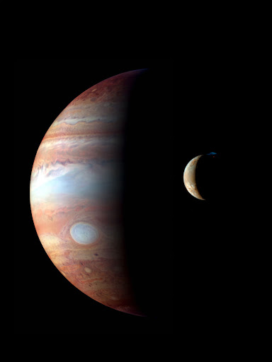 New Horizons: montage of New Horizons Montage of Jupiter and its volcanic moon Io