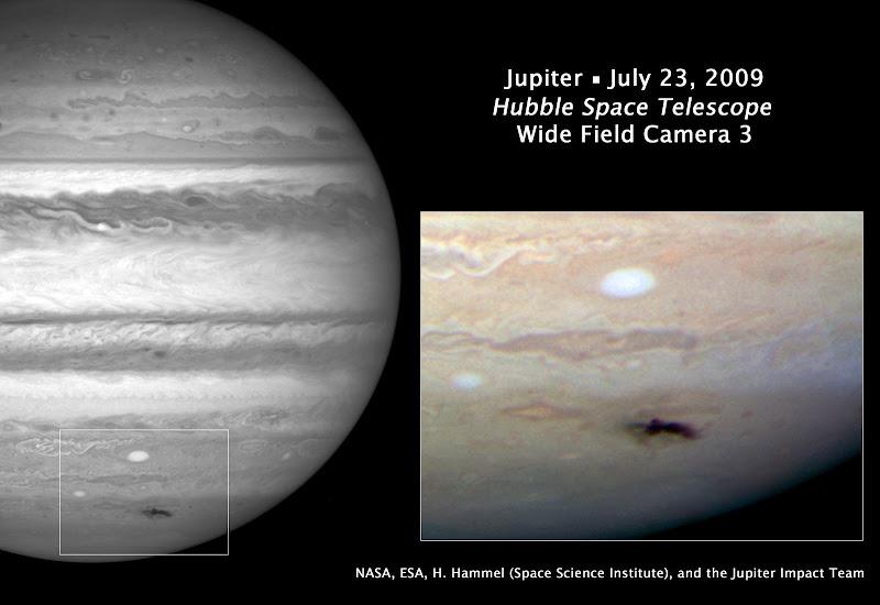 Hubble Image of Jupiter Impact Site.