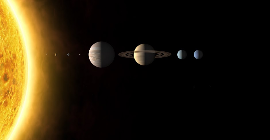 The Solar System With 8 Planets