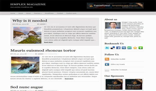 Simple White Black Magazine Wordpress Theme