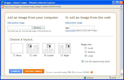 Photo of the dialog used to select an image to upload
