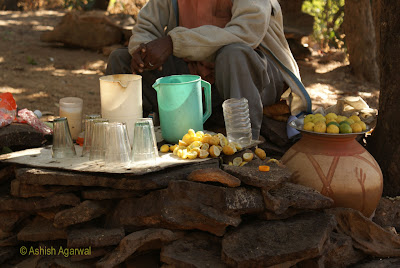 Selling lemonade on the path to Chauragarh in Pachmarhi