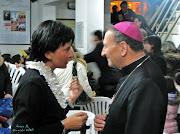 La Prof.ssa Carla Giannini e l'Arcivesco Francesco Cacucci- Bari