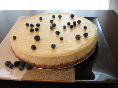 A cake for the Weekend: Rose Water and Orange Blossom Cheesecake