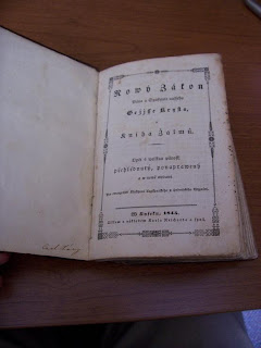 Czech New Testament and Psalms, 1845