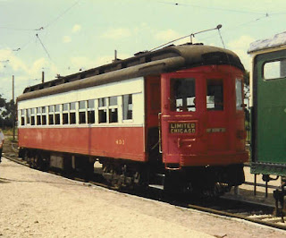 CA&E car 431; Illinois Railway Museum, 1983