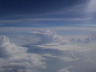 Thunderstorm seen from above