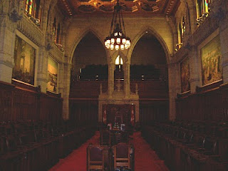 The Senate chamber, Ottawa