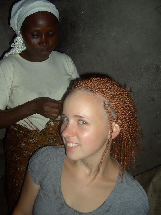 Beim Haare machen