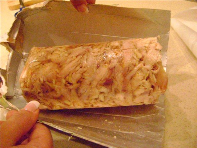 Колбаса из куриных потрохов в домашних условиях