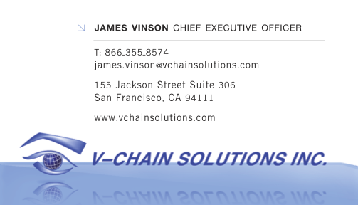 V-Chain Solutions, Inc Business Card