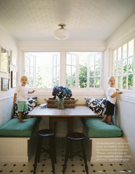 Amber interior design banquette for Lulu designs interior design