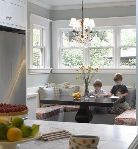 Kitchen Designs With Center Window: Amber Interior Design: Banquette