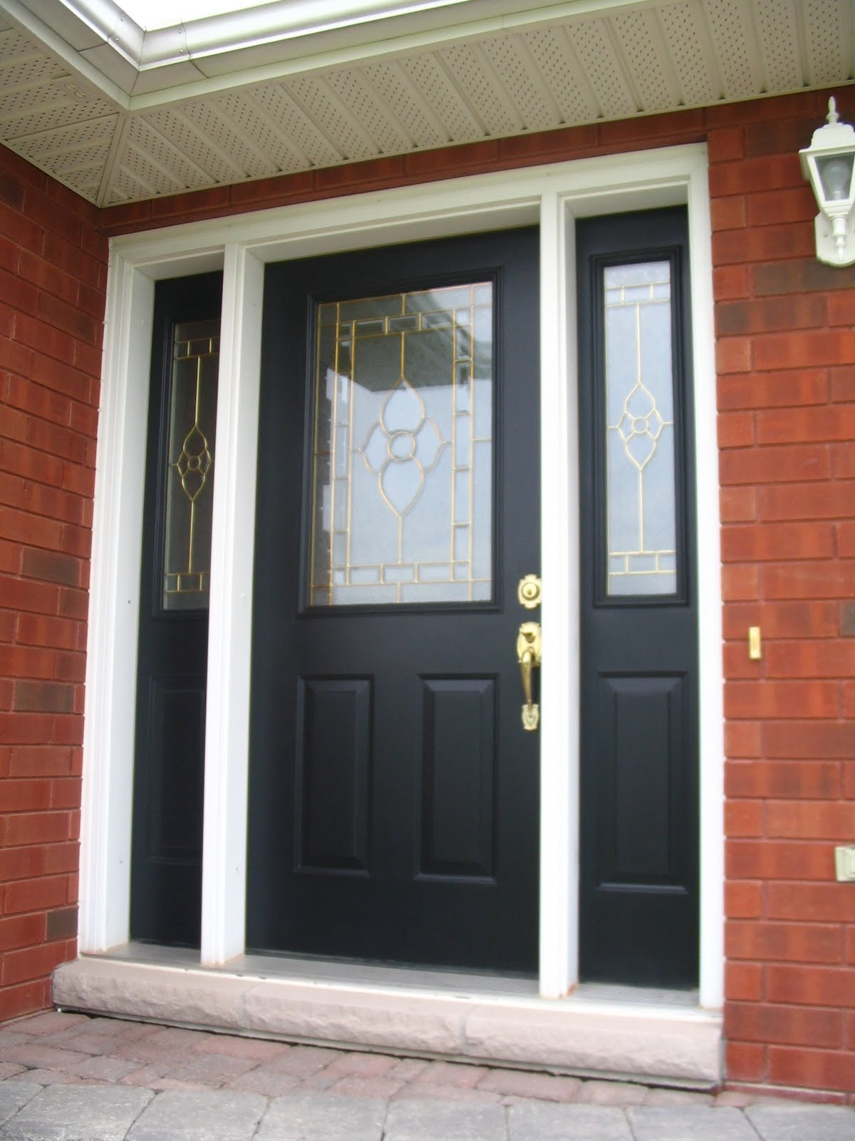 1600 #7E4030 Black Entry Door Front Door Makeover! picture/photo Painted Front Doors With Sidelights 41891200
