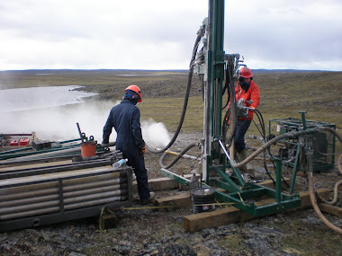 Drilling at Amer Lake 2008