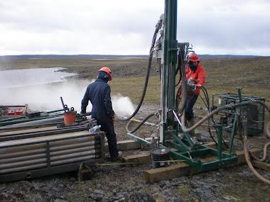 Drilling at Amer Lake 2008