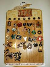 Vintage Jewelry Calendar