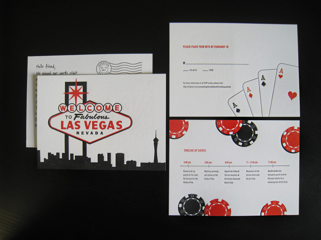 Nice Vegas Themed Wedding Invitations Component - The Wedding Ideas ...