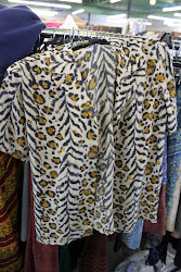 Silk Leopard blouse combination zebra
