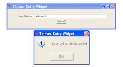 Python Tkinter Entry Get Value