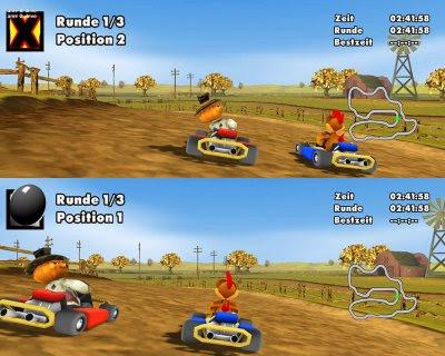 Moorhuhn Kart لعبة سباق السيارات التي يقودها الدجاج خفيفة مسلية,بوابة 2013 29.jpg
