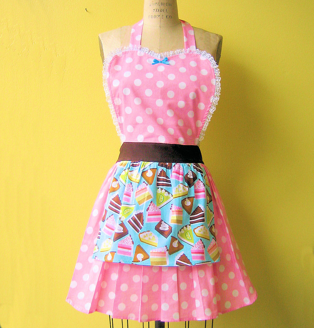 loverdoversclothing retro aprons bakery themed womens. Black Bedroom Furniture Sets. Home Design Ideas