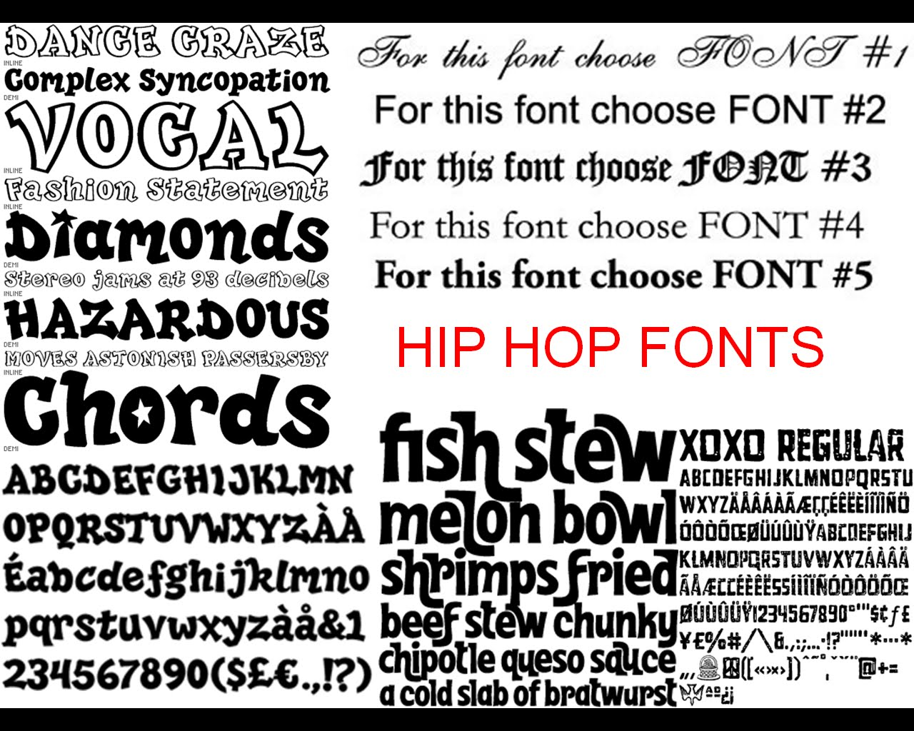 Hip hop rnb research fonts