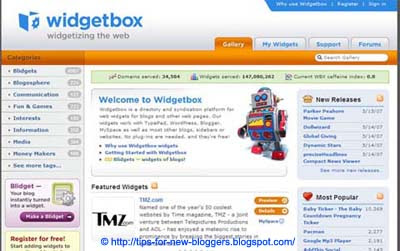 Blog Widgets, Gadgets and Add-ons