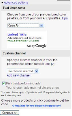 AdSense Product Referrals in Blogger