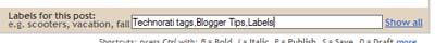 Technorati Tags in Blogger Posts