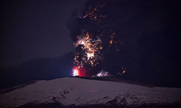 iceland volcano lightning. iceland volcano lightning.
