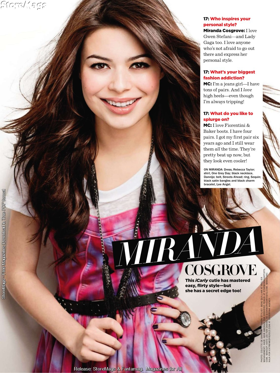 Seventeen's Style Stars Of 2010   Miranda Cosgrove & Victoria