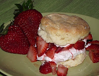 Sweet Cream Biscuits and Strawberry and Peach Shortcake