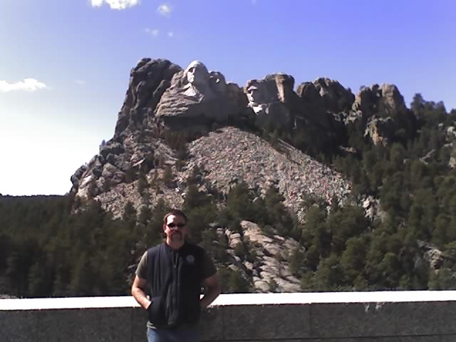 Jason Mt. Rushmore in background!