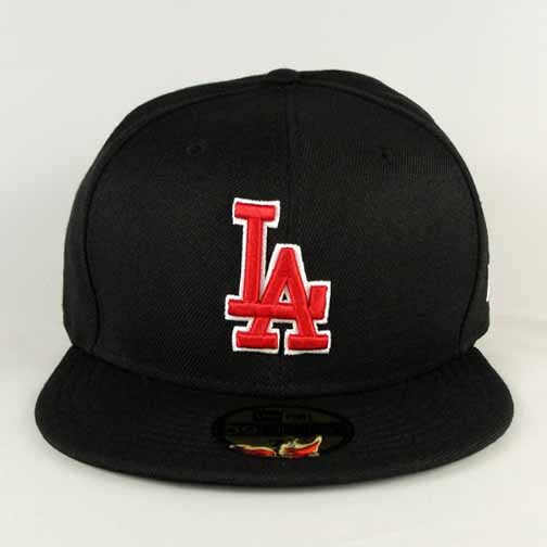 Los Angeles Dodgers Black Red White New Era Fitted Hat | 59Fifty