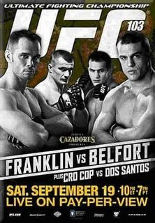 UFC 103 Rich Franklin Vs Vitor Belfort Live Streaming Online