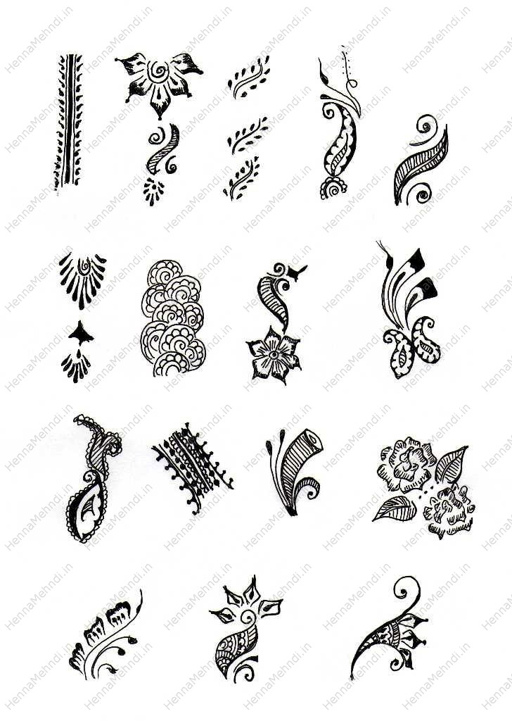 Simple Henna Designs Template | makedes.com