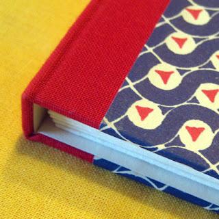 Book cloth memo pockets