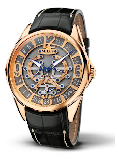 Milus TIRION TriRetrograde Seconds Skeleton gold
