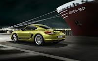 Porsche Cayman R backside