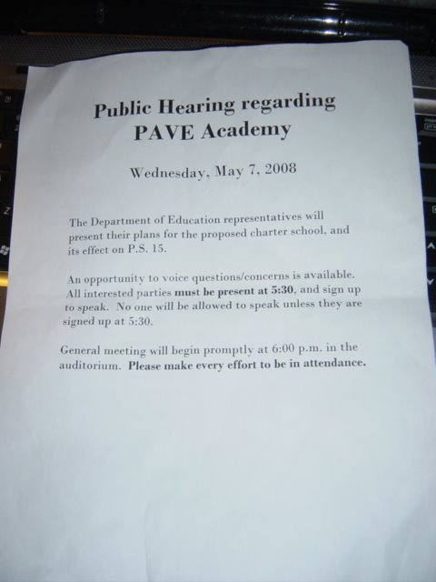 Come to the Hearing... and sign up to speak and defend PS15
