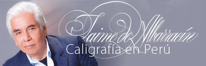Jaime de Albarracín / Caligrafía en Perú
