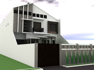 desain rumah minimalis modern asimetris rancangan rumah
