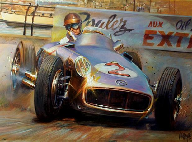 El Arte De Pintar A Juan Manuel Fangio Argentina Autoblog
